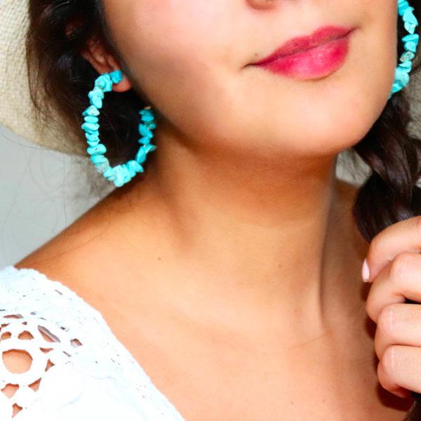 Nana Turquoise - Boucles d'oreille