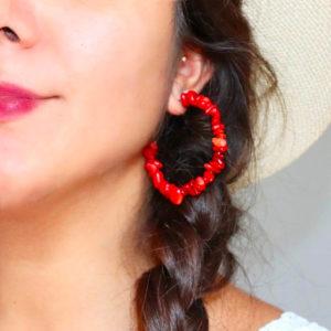 Nana Corail - Boucles d'oreille