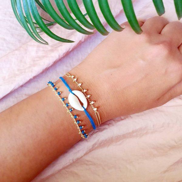 Leonie - bracelet en chaine dorée