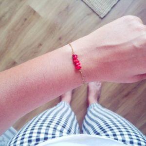 Nana - Bracelet Corail