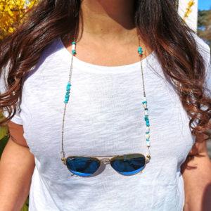 Chaîne de lunettes Pipa bleu